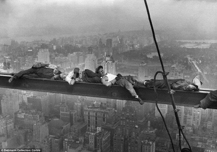 Repos en haut du GE Building