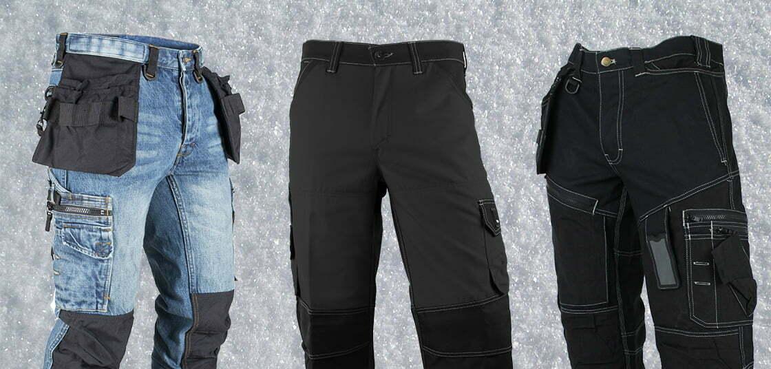 Trois pantalons de travail pour l'hiver