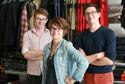 Equipe de Kraft Workwear avec Jean, Vianney et Aude