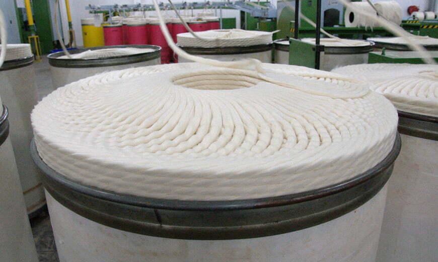 création d'un fil de coton
