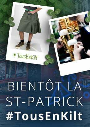 article de blog sur la saint patrick et tous en kilt avec kraft workwear