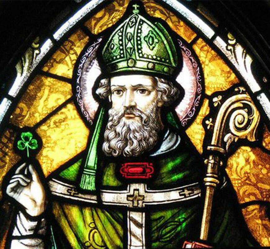vitrail représentant le Saint Patrick