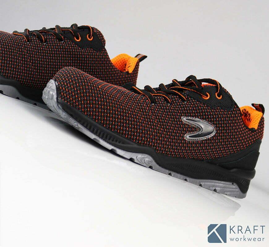 la basket de securite confortable cofra chuck bicolore orange noir