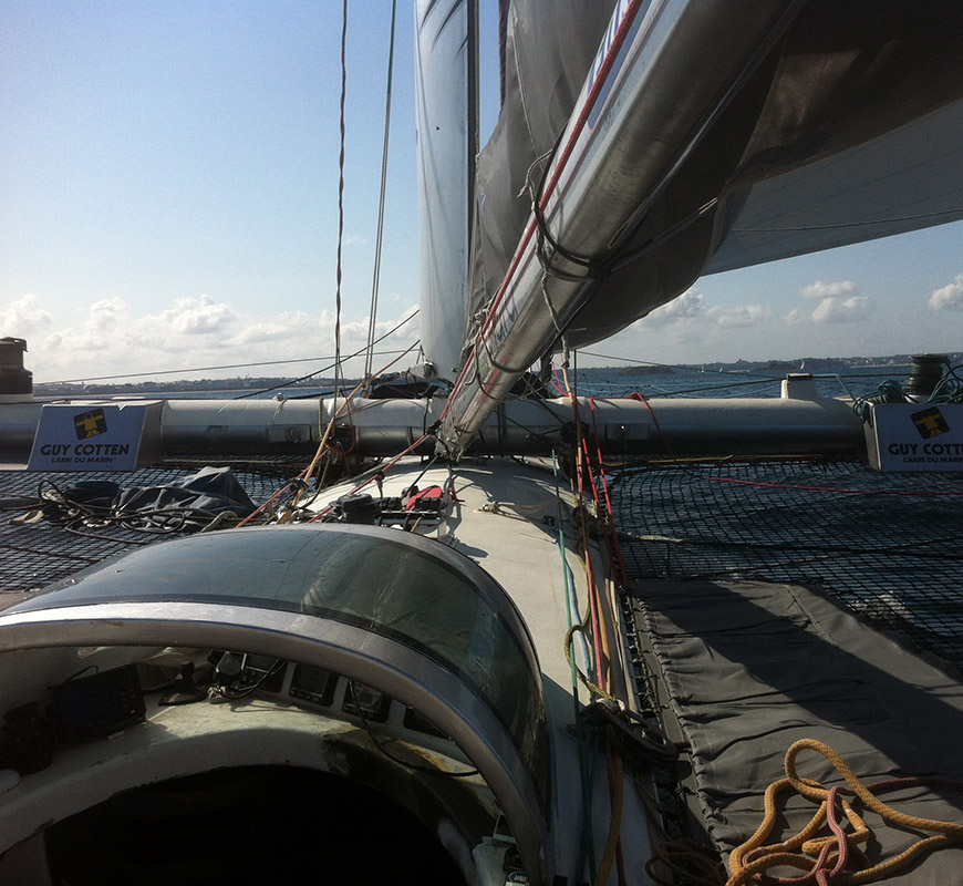 vue d un catamaran de benoit ingenieur marin