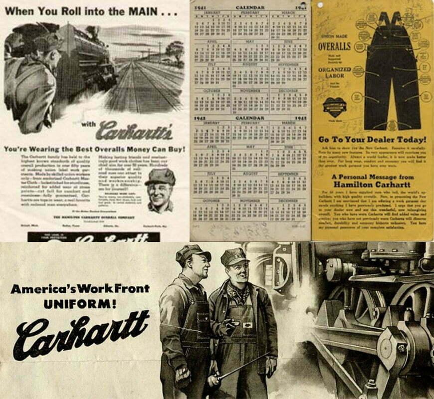 publicites vintage de l epoque carhartt