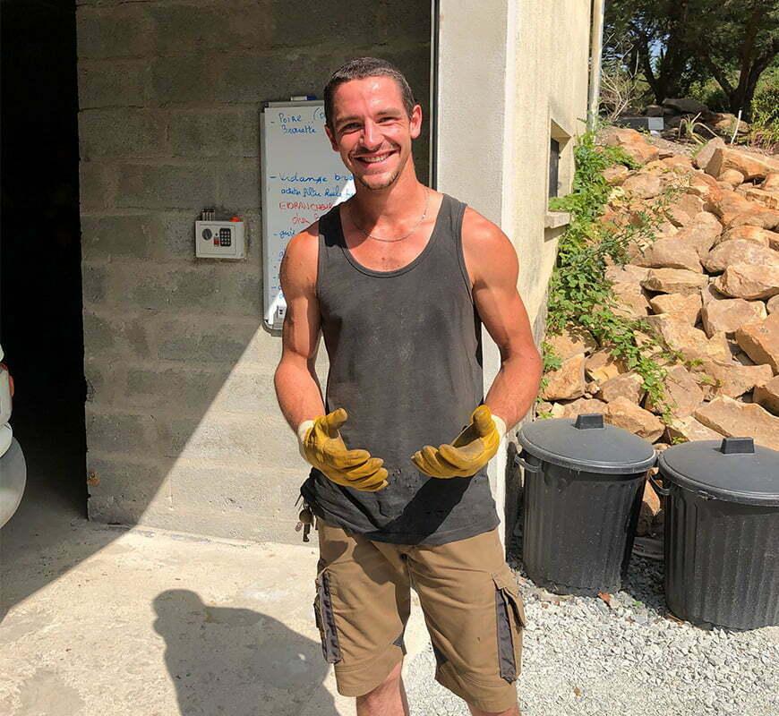 interview de thomas elagueur et paysagiste par François de l'équipe kraft
