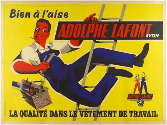 Publicité salopette Lafont